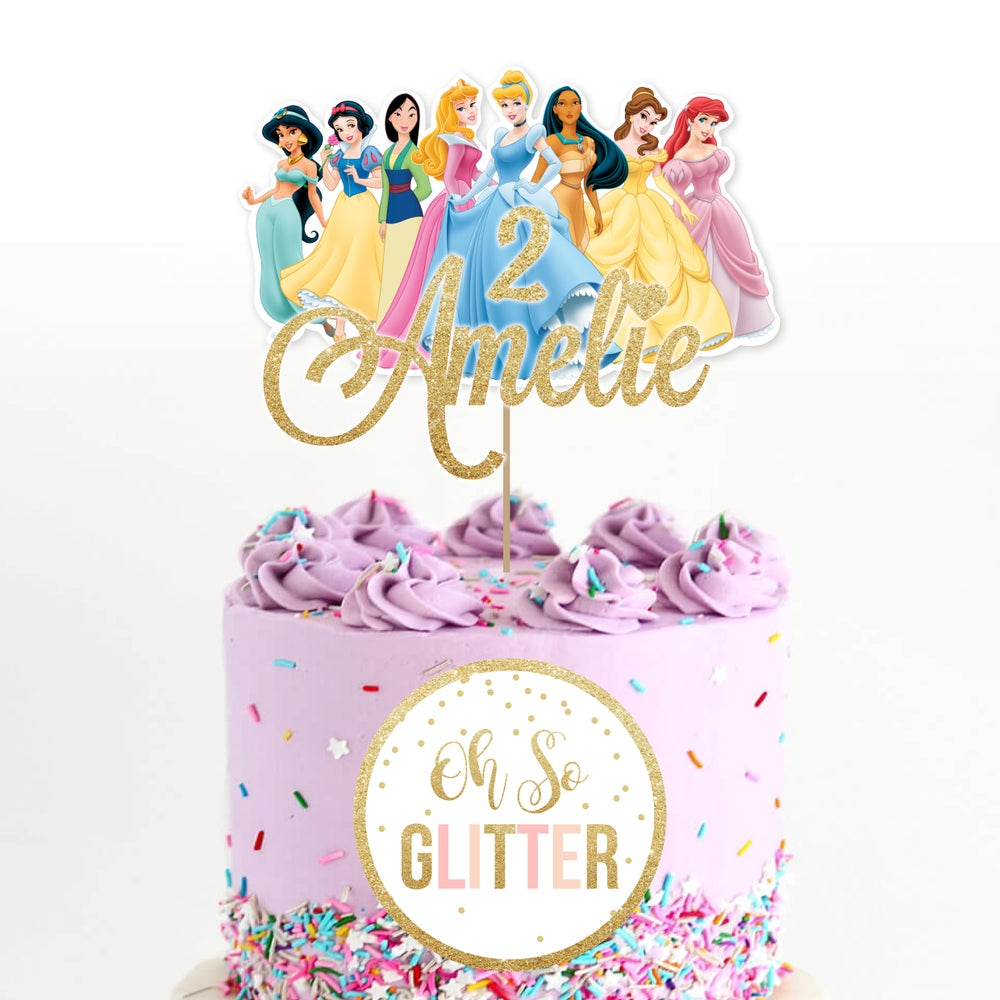 Image of Princess customised cake topper