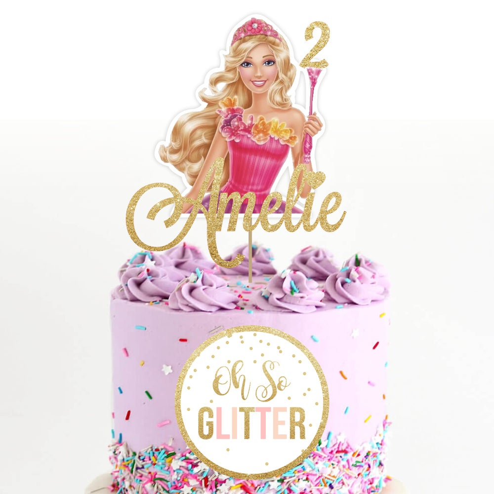 Image of Barbie customised cake topper