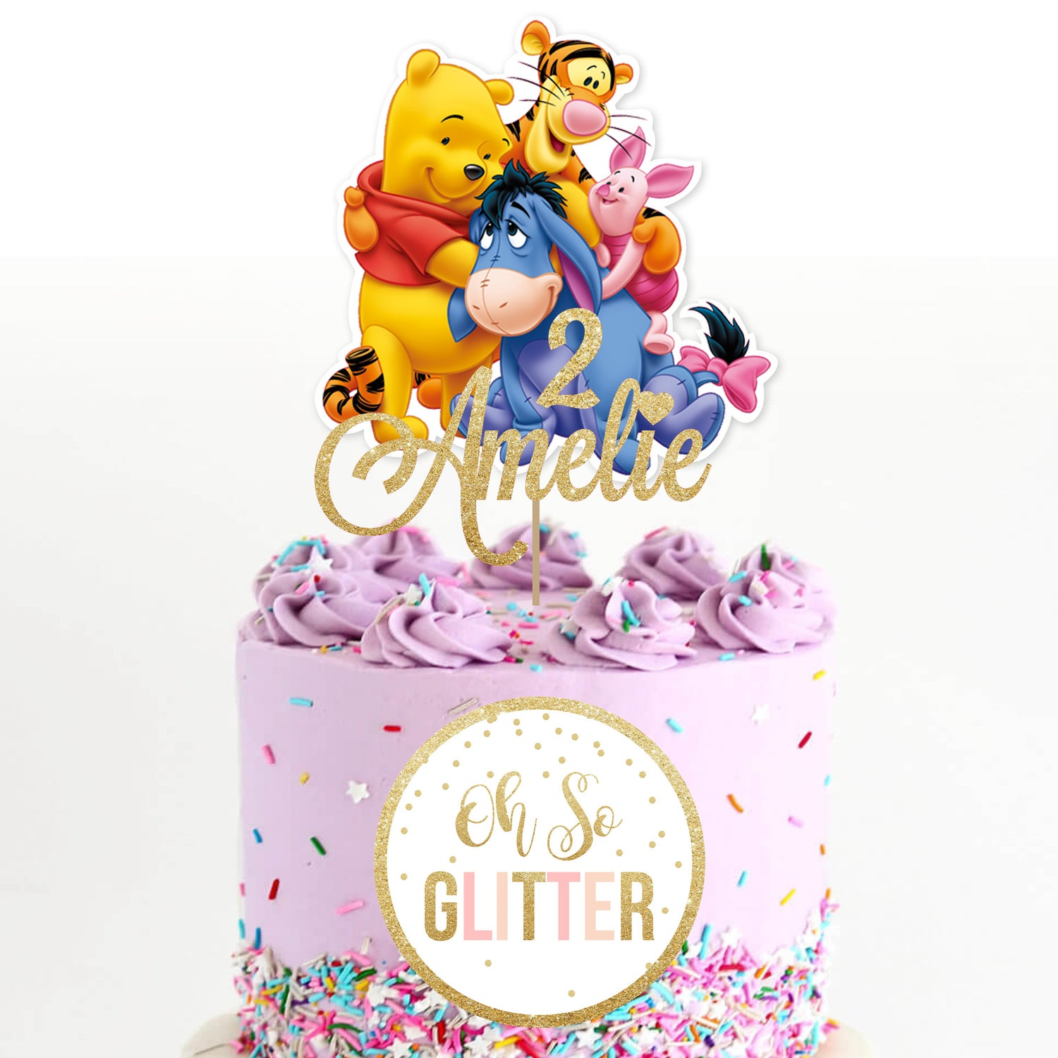 Image of Winnie The Pooh customised cake topper