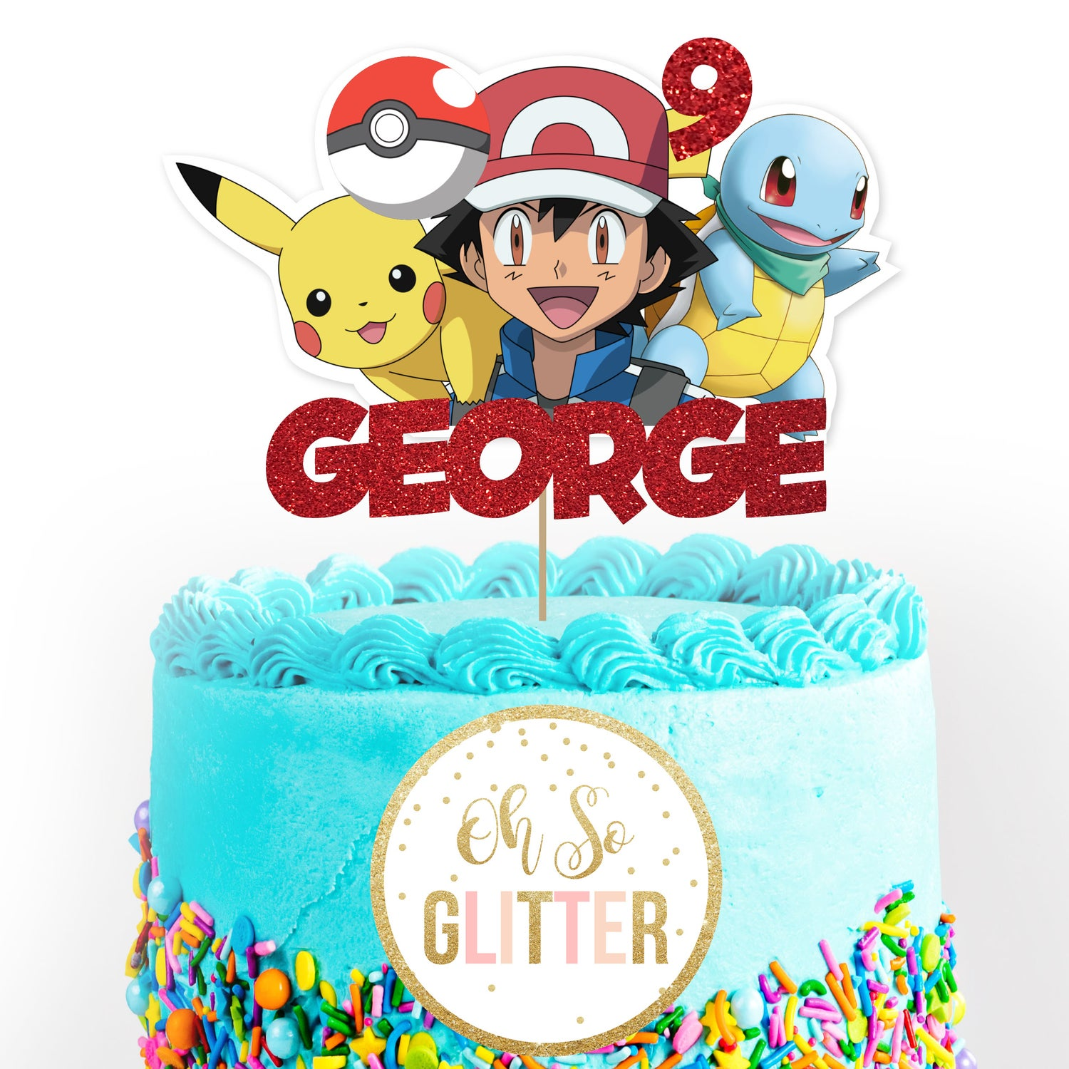 Image of Pokemon customised cake topper