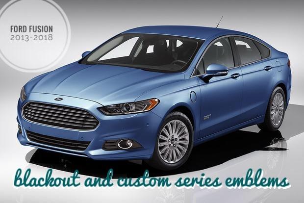 Image of Ford Fusion 2013-2018 (SE, SEL, Hybrid, Sport, Titanium) Custom Emblems