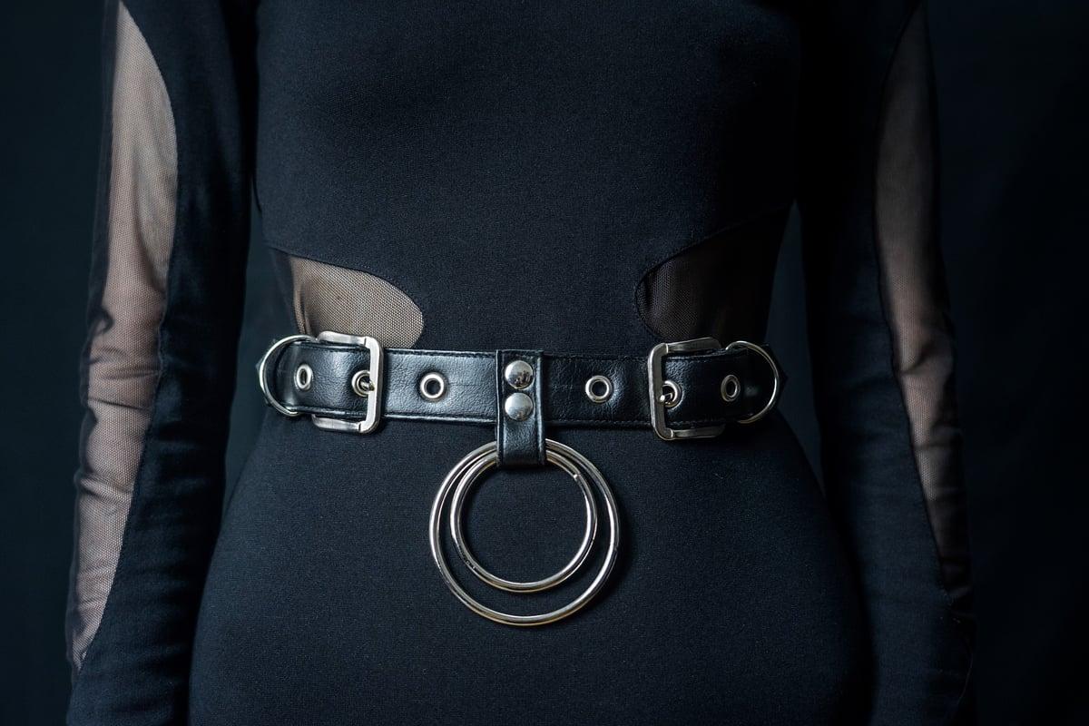 Double ring waist belt vegan leather