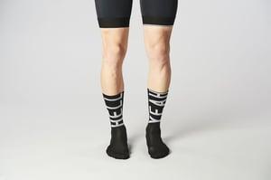 Image of Fingerscrossed HELL YEAH 2.0 Cycling Socks black