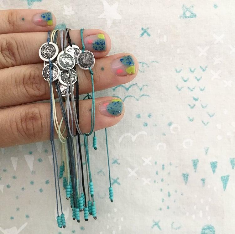 Image of Dainty full moon bracelet