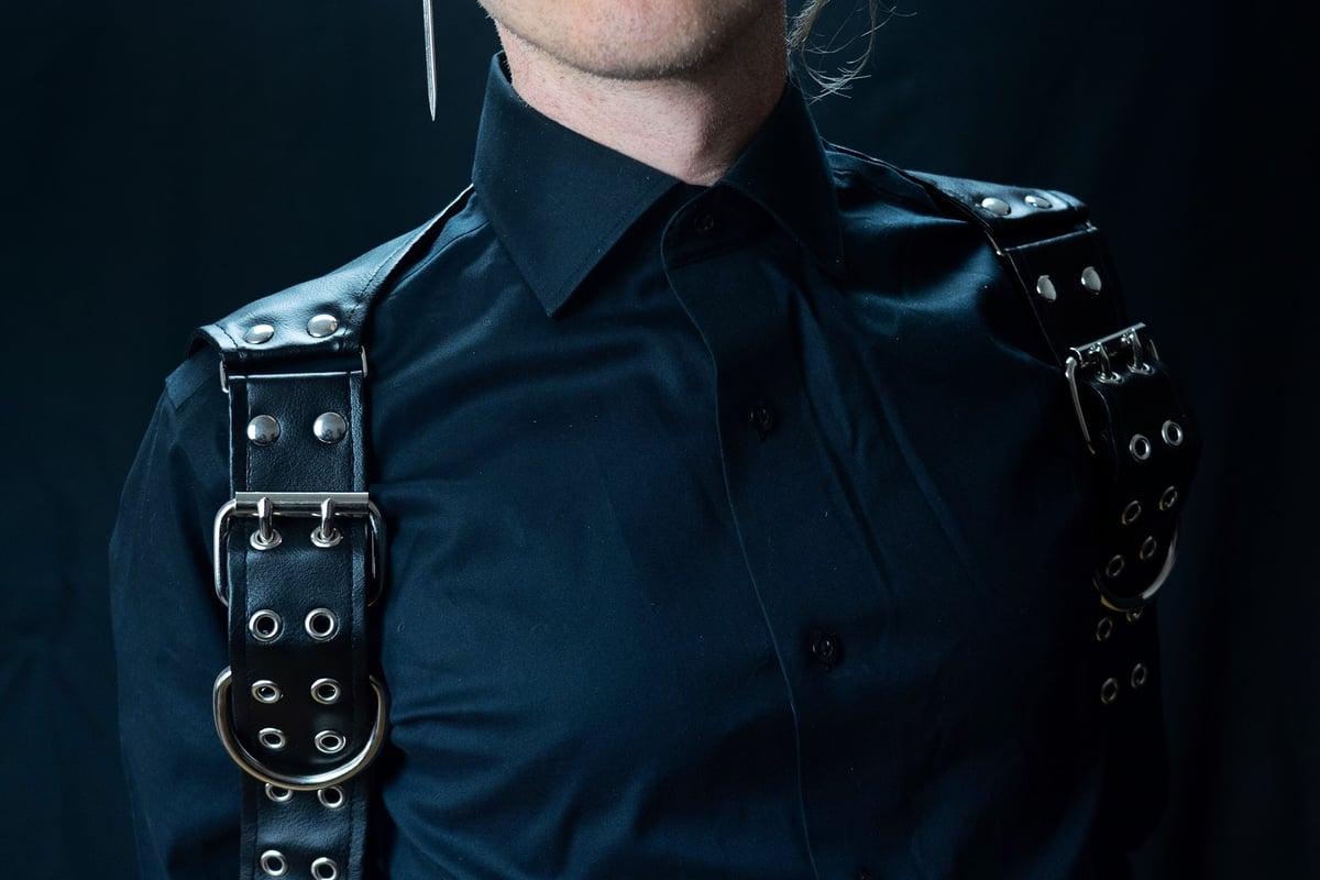 Upper body harness vegan leather