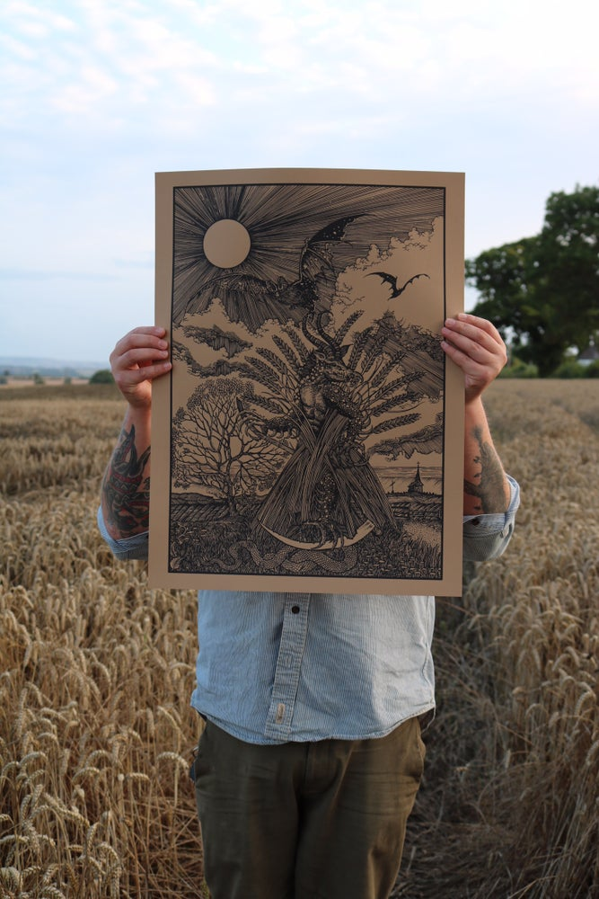 Image of A darkness that grew in the last wheat sheaf ( Golden harvest )