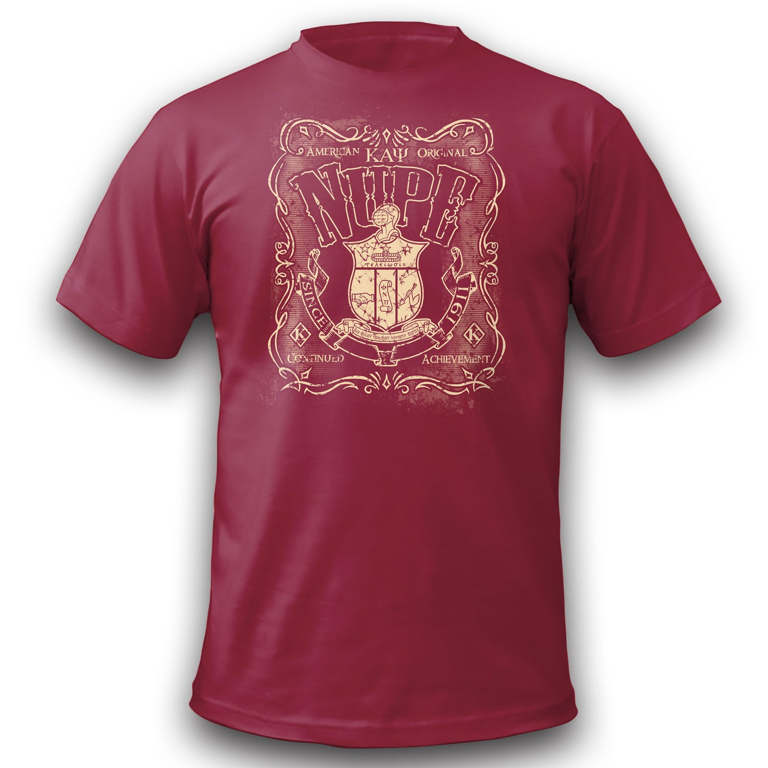 Image of American Original Nupe Graphic Dry-Fit T-Shirt (Crimson)