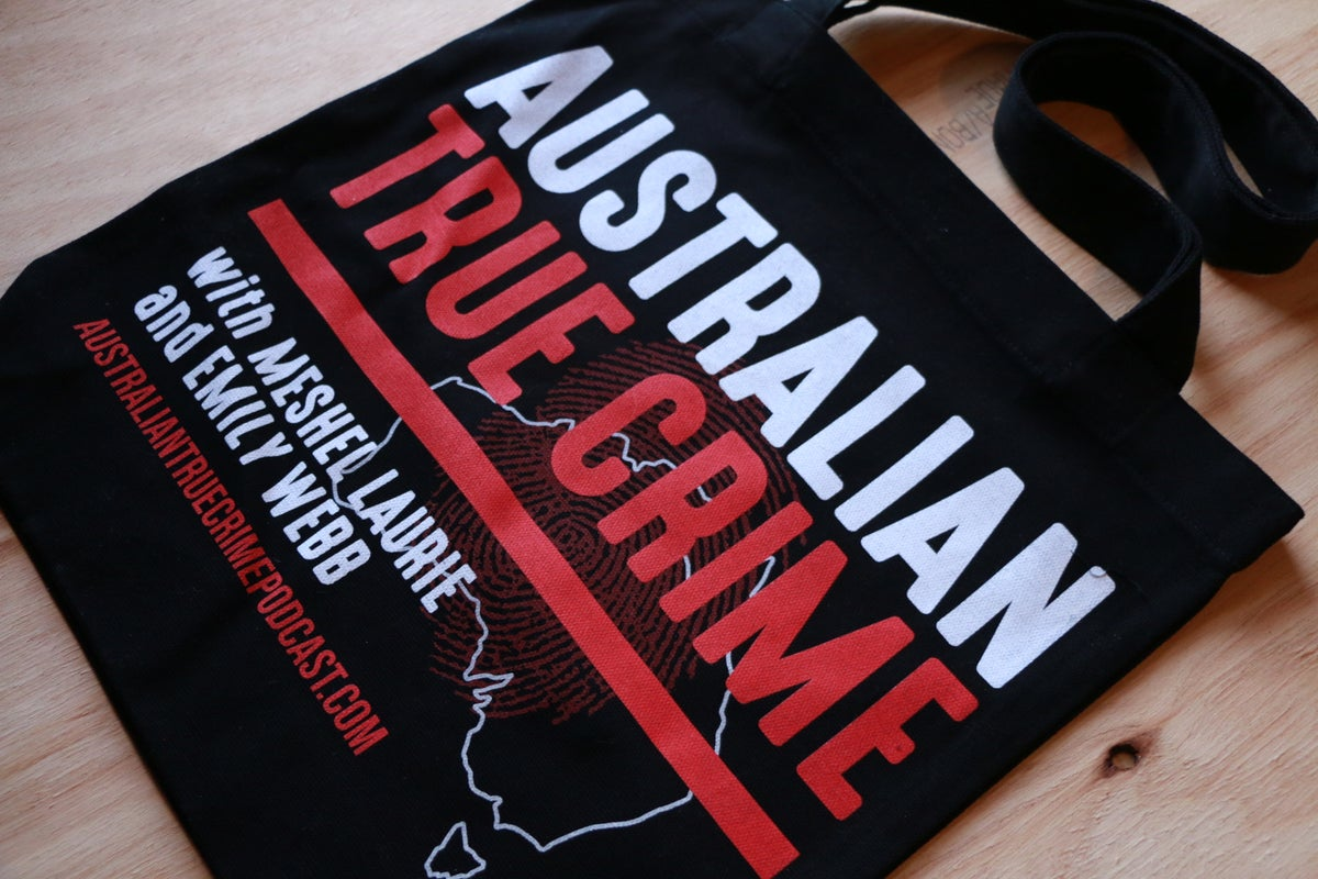 Image of Australian True Crime Podcast Tote Bag
