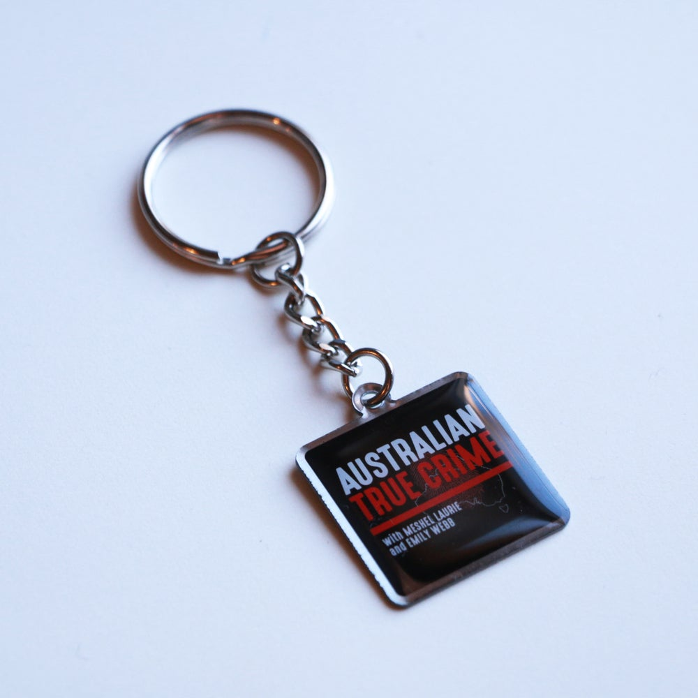 Image of Australian True Crime Podcast Keyring