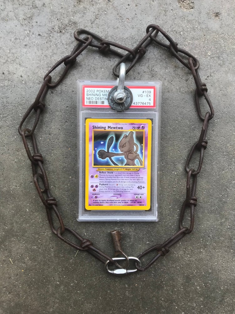"Image of Shining Mewtwo 29"" matte rust"