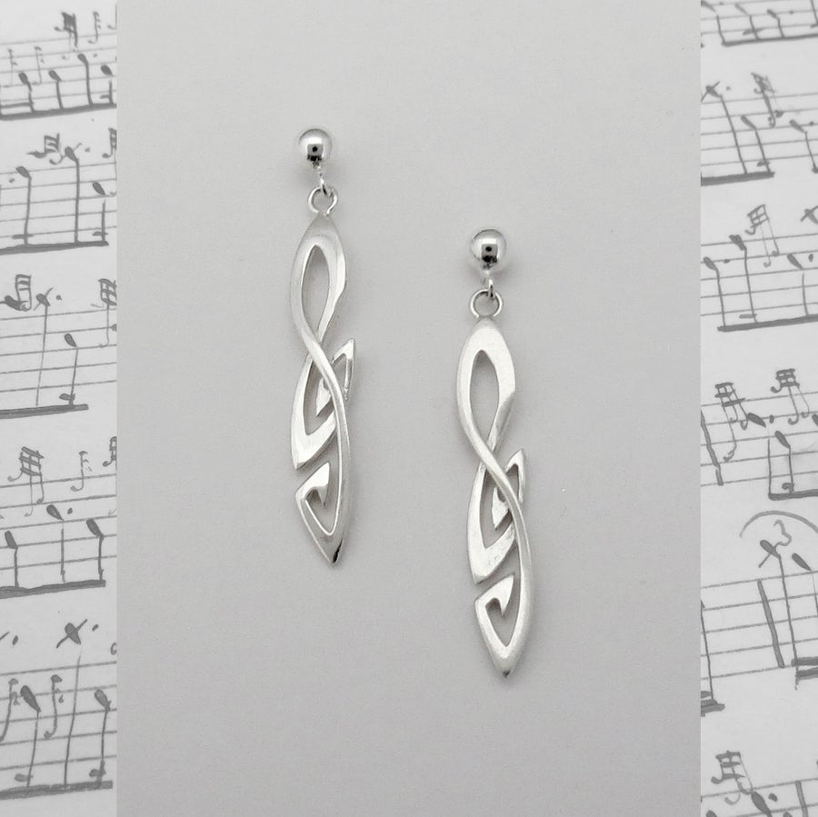 Image of Treble Clef Earrings