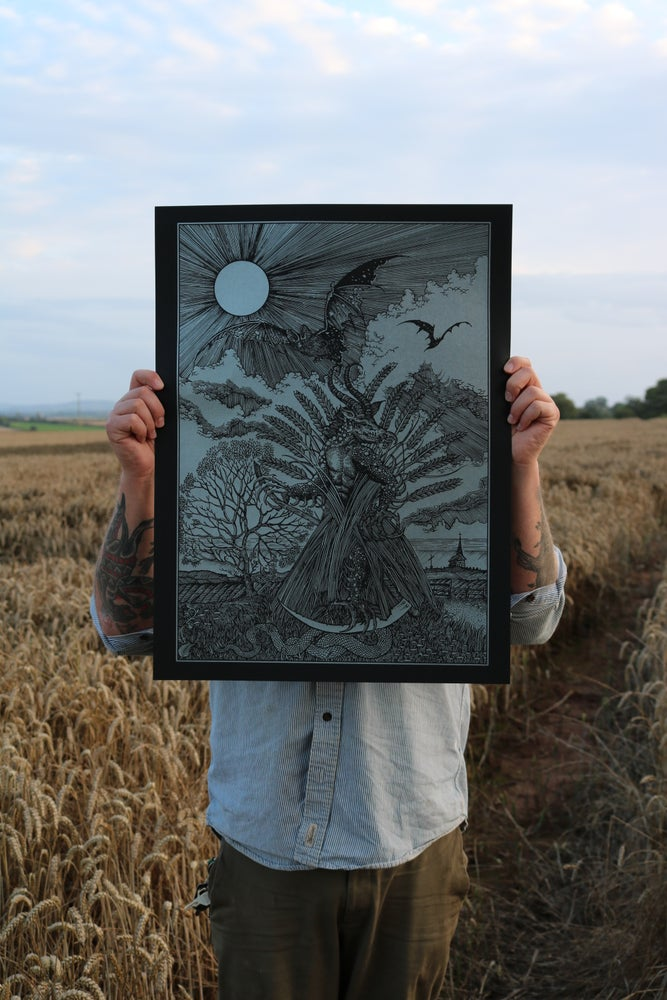 Image of A darkness that grew in the last wheat sheaf ( Black and sliver )