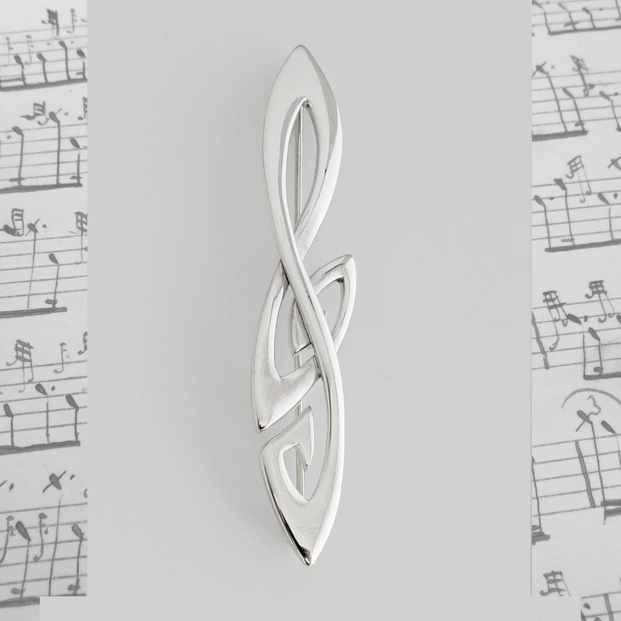 Image of Treble Clef Kilt Pin