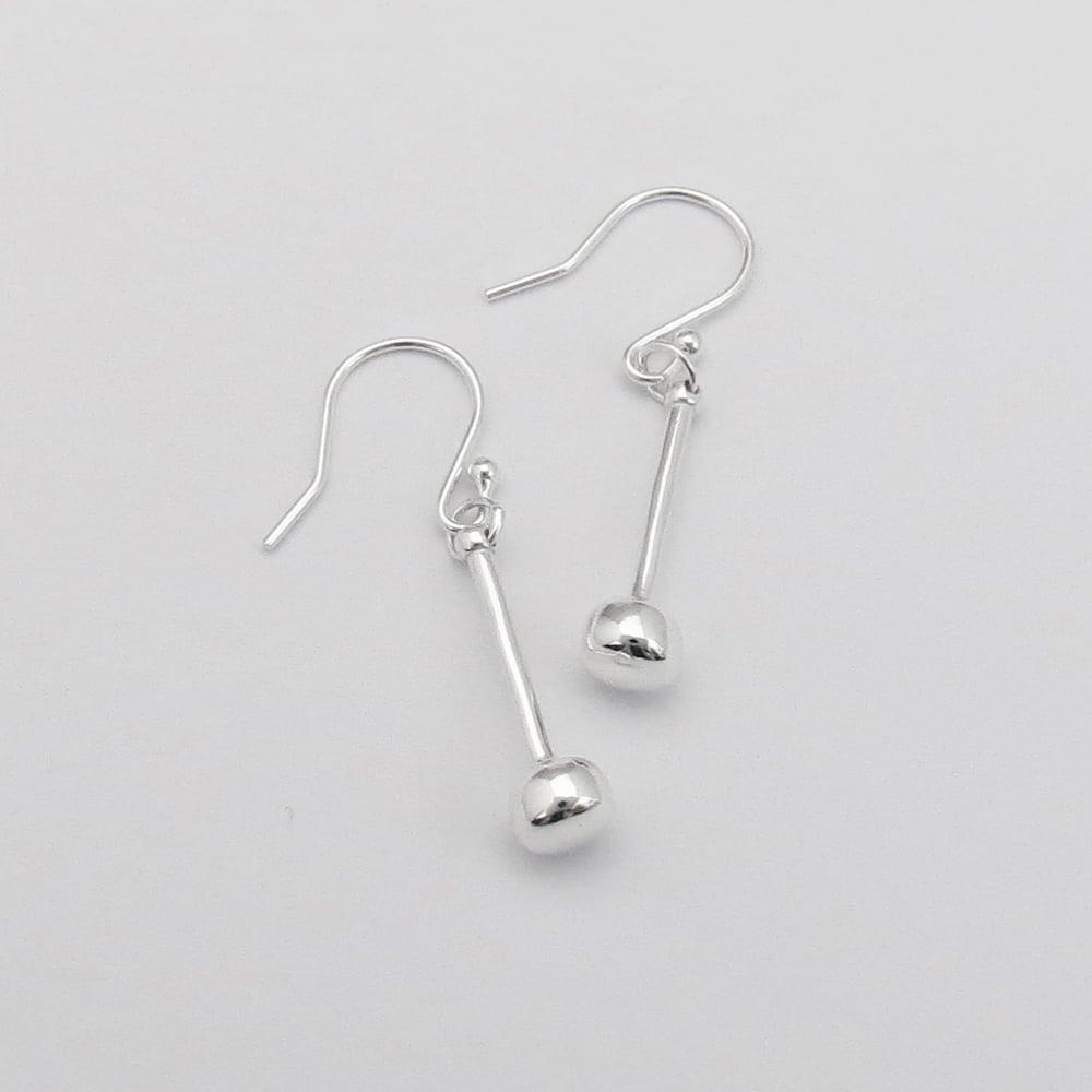 Image of Silver Tenor Stick Earrings