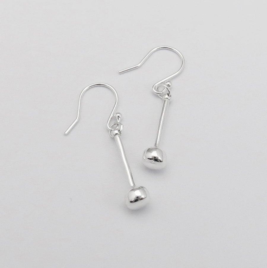 Image of Silver Tenor Stick Earrings