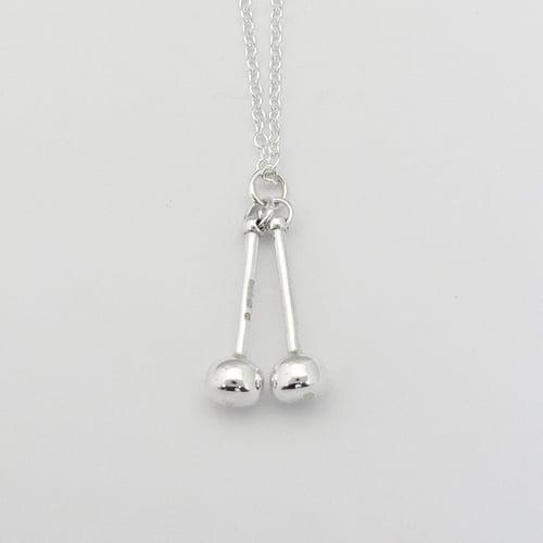 Image of Silver Tenor Sticks Pendant