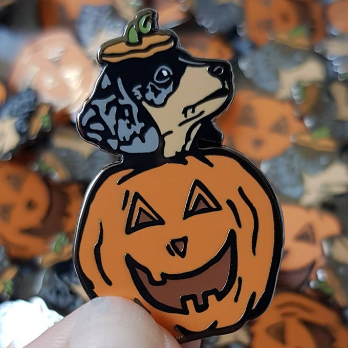Image of Pumpkin Puppy Pin