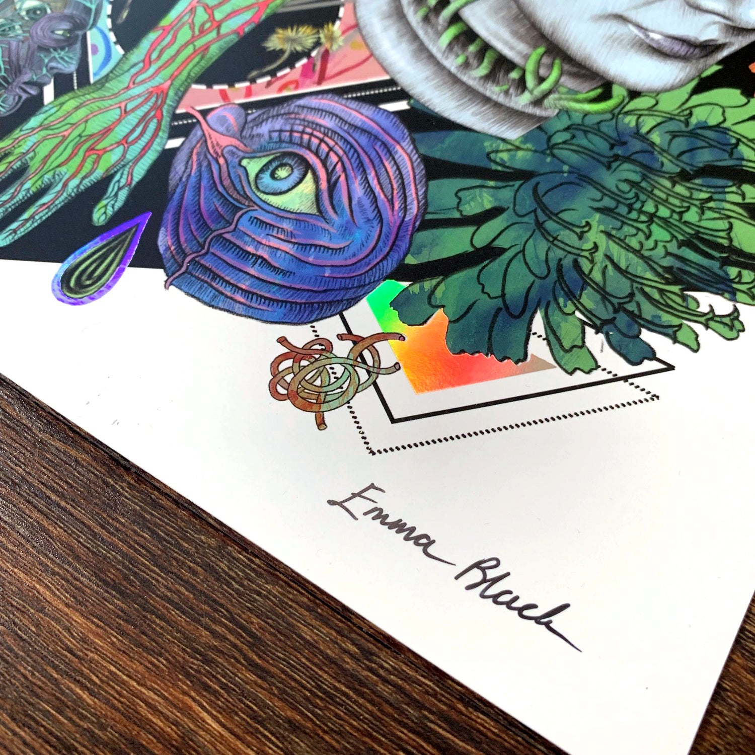 Image of Limited Edition 'The Incomplete Ascension' Holographic Rainbow Foiled Art Print
