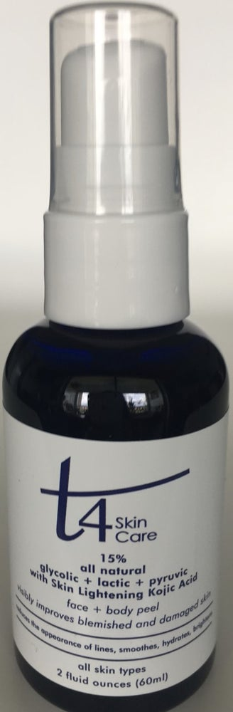 Image of T4 15% Glycolic-Pyruvic & Lactic Face & Body Peel