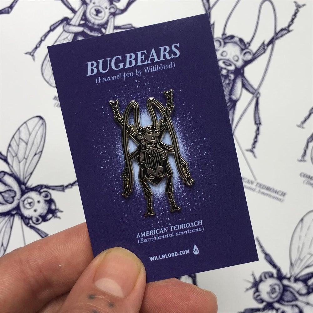 Image of Bug Bear zine and pin