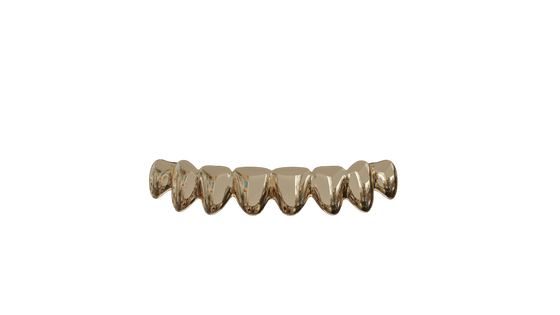 Image of 8 Bottom Teeth Solid 14k Gold Grills
