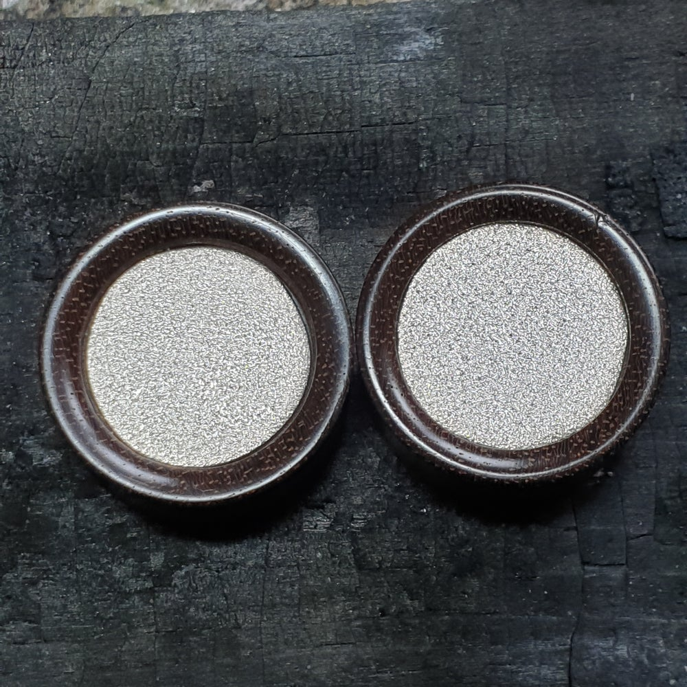 Image of 24mm frosted silver plugs