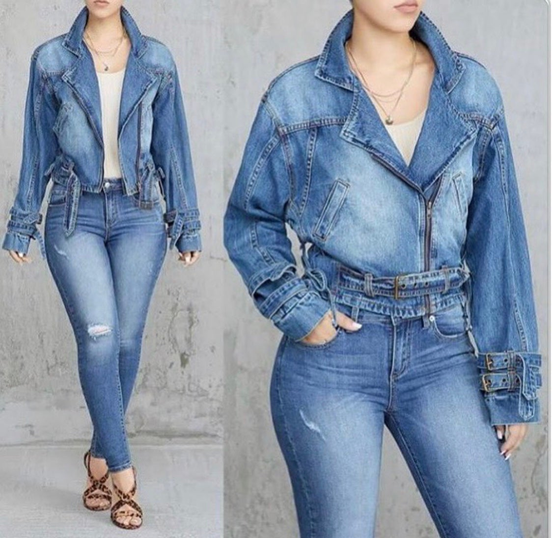 Image of Denim Moto