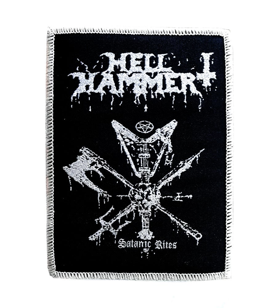 Image of Hellhammer - Satanic rites woven patch