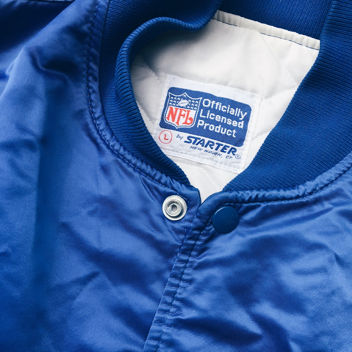 Image of Original 80's Made In USA Starter Seattle Seahawks Satin Jacket.