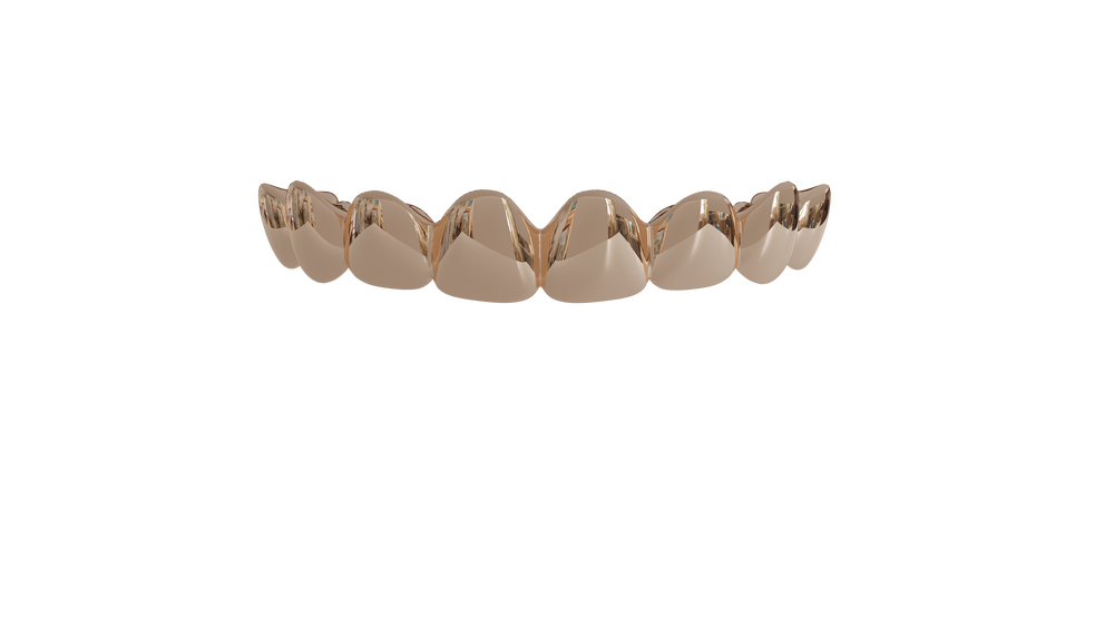 Image of 8 Top Teeth Solid 10k Gold
