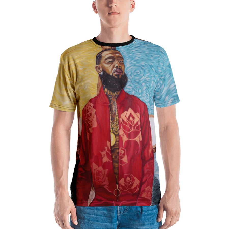 Image of Nipsey Van Gogh Full Bodied Print Shirt