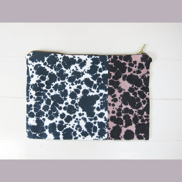 Image of Printed textile clutch # 3