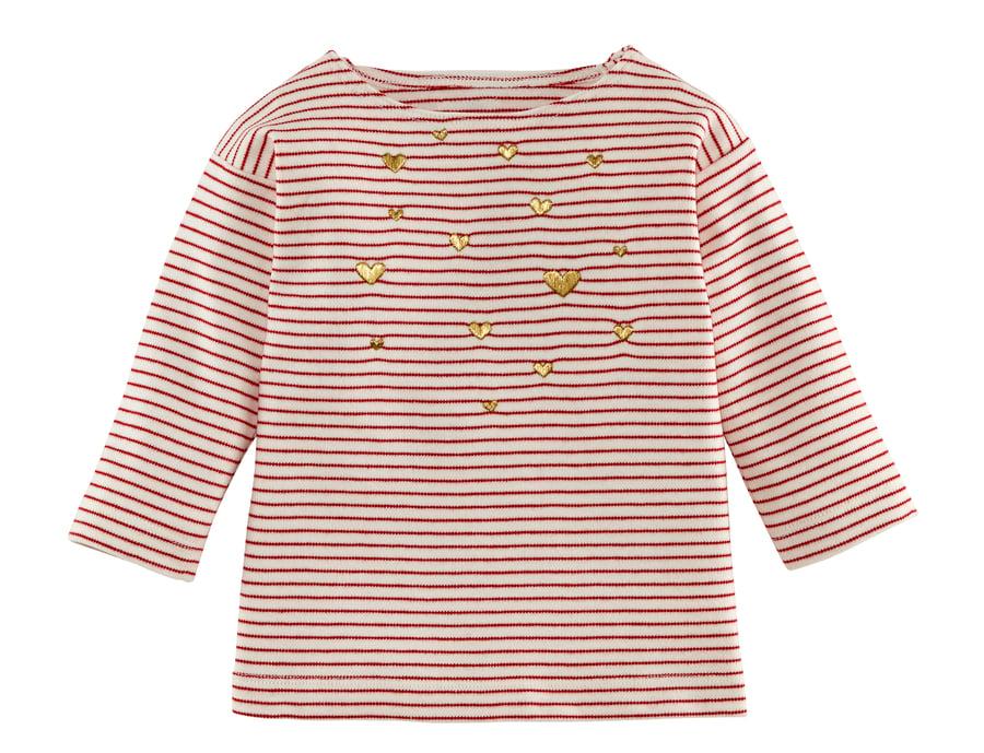 Image of Shirt mit goldenen Herzchen