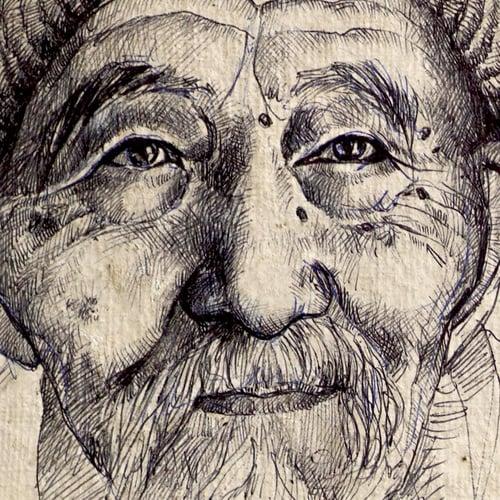 "Image of Paper Art Print - ""Docteur Ho"""