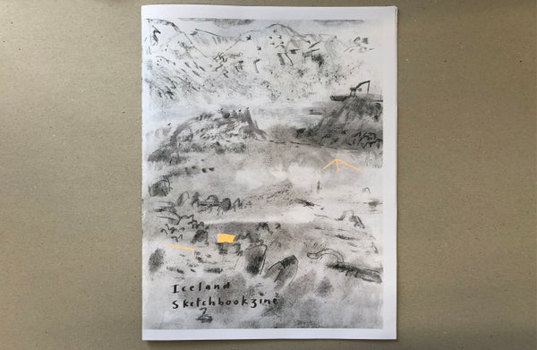 Image of Iceland Sketchbookzine - Hand Finished Limited Edition