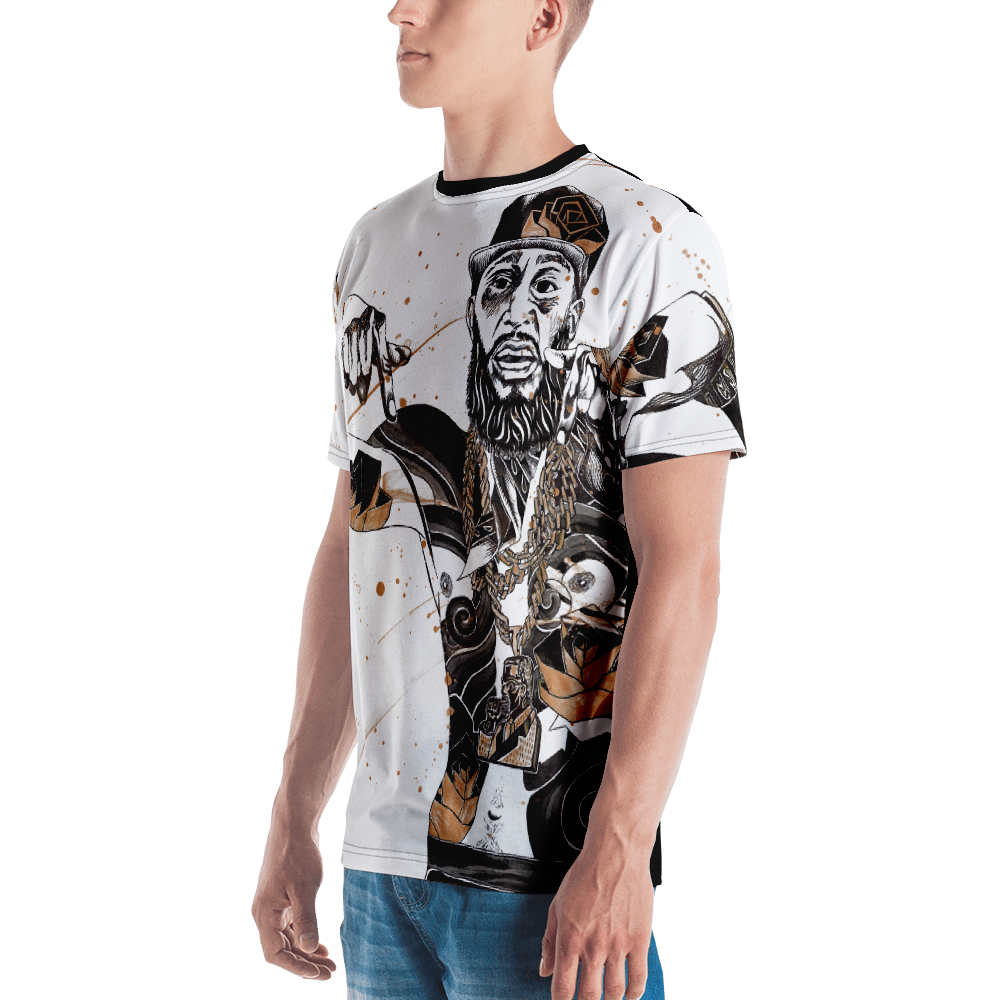 Image of HUSSLE ROSES Full Bodied Print Shirt