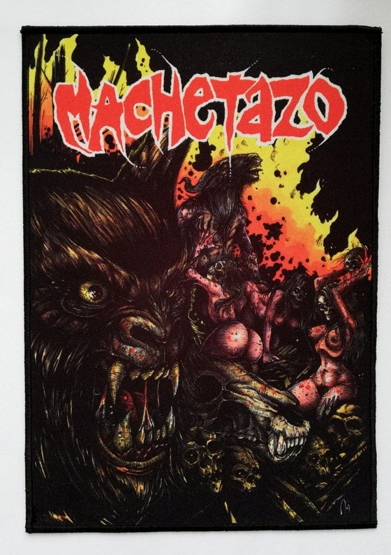 Image of MACHETAZO - Wolf big patch (29x21 cm)