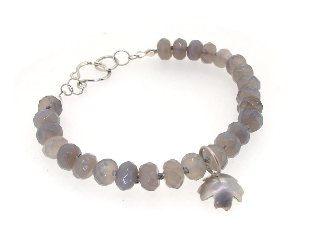 Image of {ONE OFF} Primrose & Grey Moonstone Bracelet