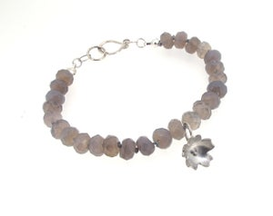 Image of {ONE OFF} Primrose & Grey Moonstone Bracelet