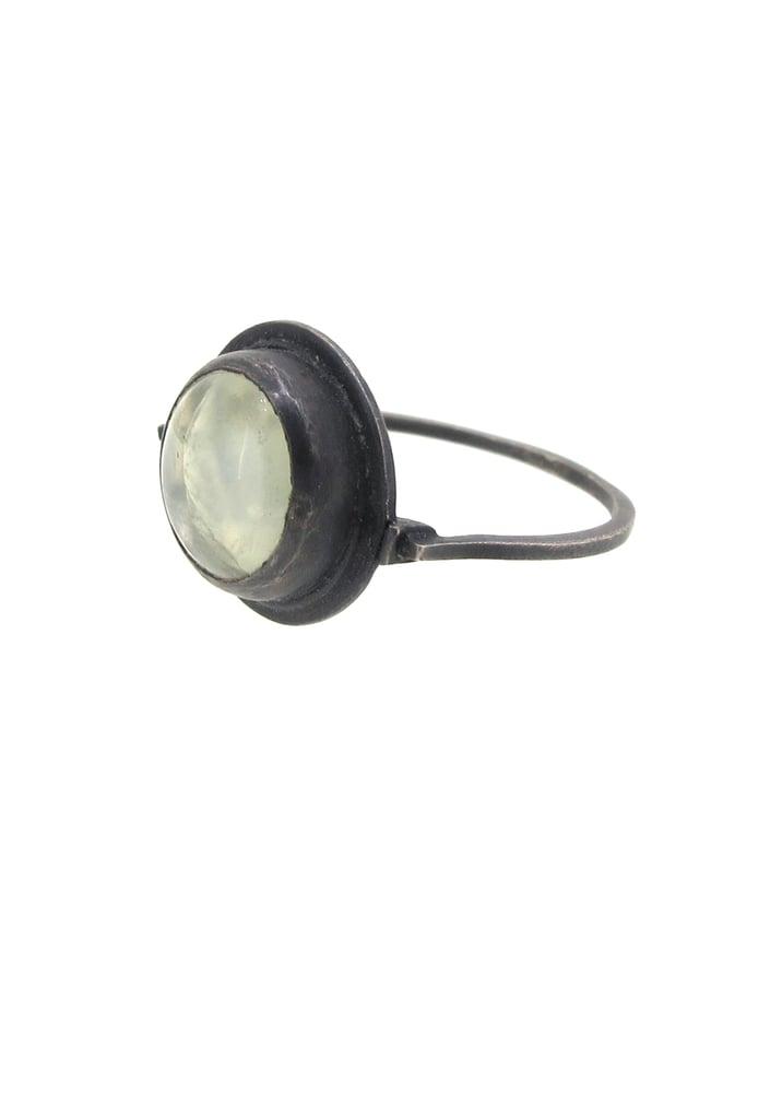 Image of {One off} Prehnite gemstone Spyglass Ring