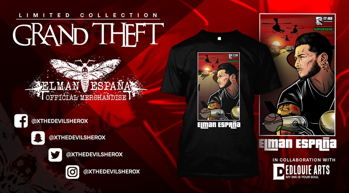 "Image of Elman España ""Grand Theft "" T-shirt"