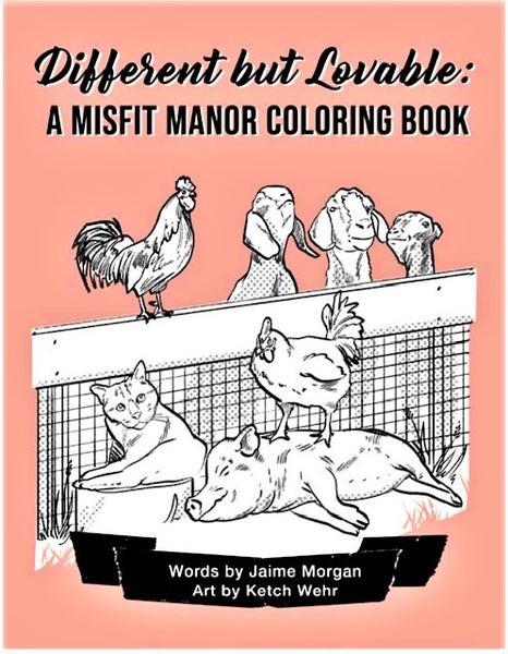 Image of Different but Lovable: A Misfit Manor Coloring Book