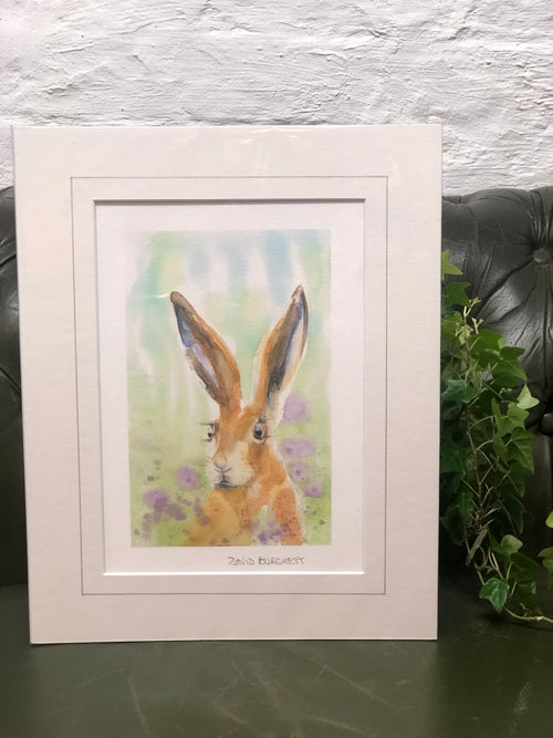Image of Purple Hare Print