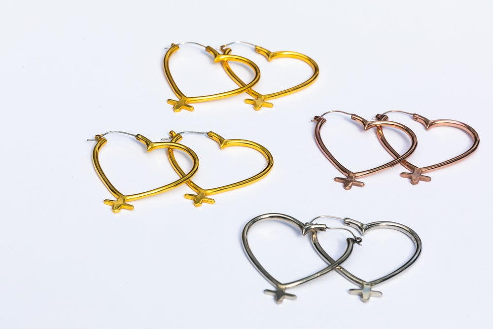 Image of Lillith Heart Hoops