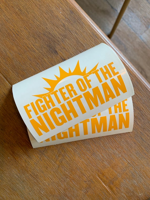 "Image of ""Fighter of the Nightman"" - It's Always Sunny Vinyl Decal"