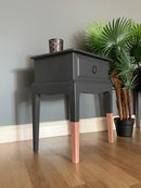 Image 4 of A pair of dark grey & rose gold stag bedside tables