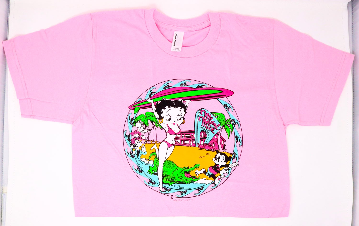 Image of Betty Boop - Miami Mice Neon T Shirt