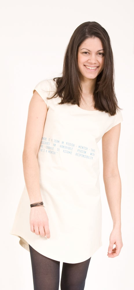 "Image of T-Shirt Kleid  ""Yiddish Mentsh"""