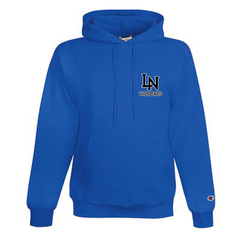 Image of Embroidered Champion Hoodie - Royal