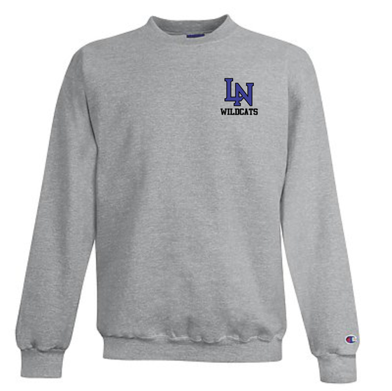 Image of Embroidered Champion Crewneck Sweatshirt - Sport Gray